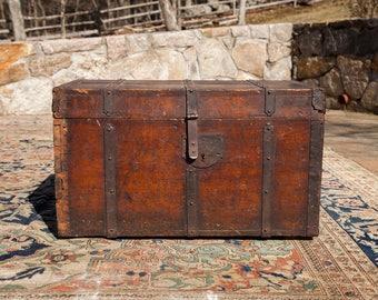 Antique 18th Century Wooden Trunk
