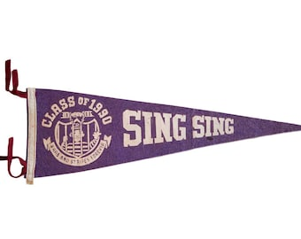 Class of 1990 Sing Sing Brass And Stripes Forever Felt Flag