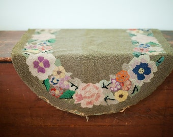 DISCOUNTED 2x4 Bohemian Rug Floral Vintage Hooked Welcome Mat