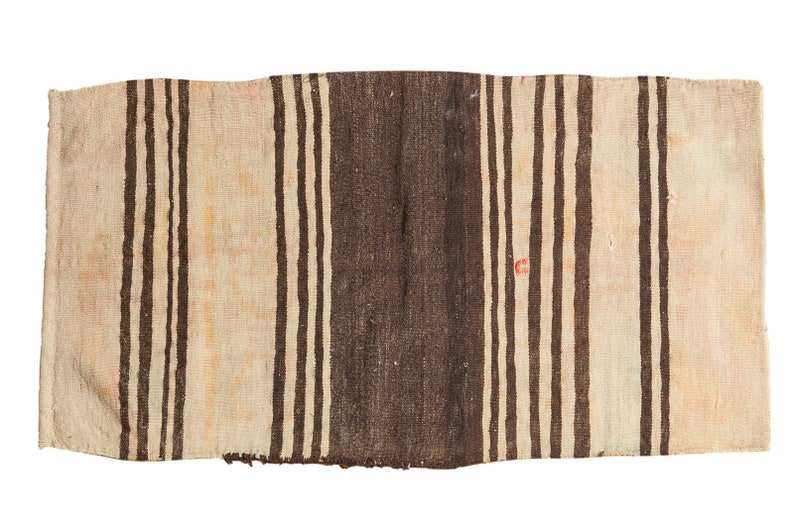 2.5x4.5 Vintage Distressed Turkish Kilim Rug