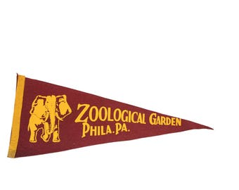 Zoological Garden Philadelphia PA Felt Flag