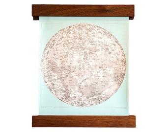 Mini Moon Chart Art Print Canvas Light Aqua