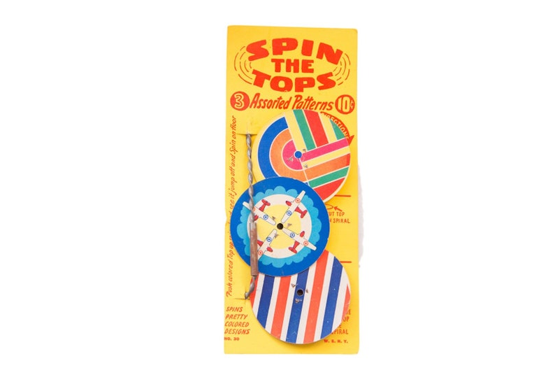DISCOUNTED Mid Century Spin the Tops Toy