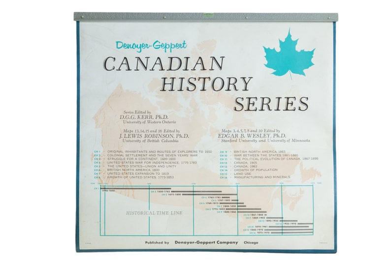 Vintage Denoyer-Geppert Canadian History Map Series | Etsy