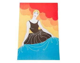 Art Deco Bather Lithograph