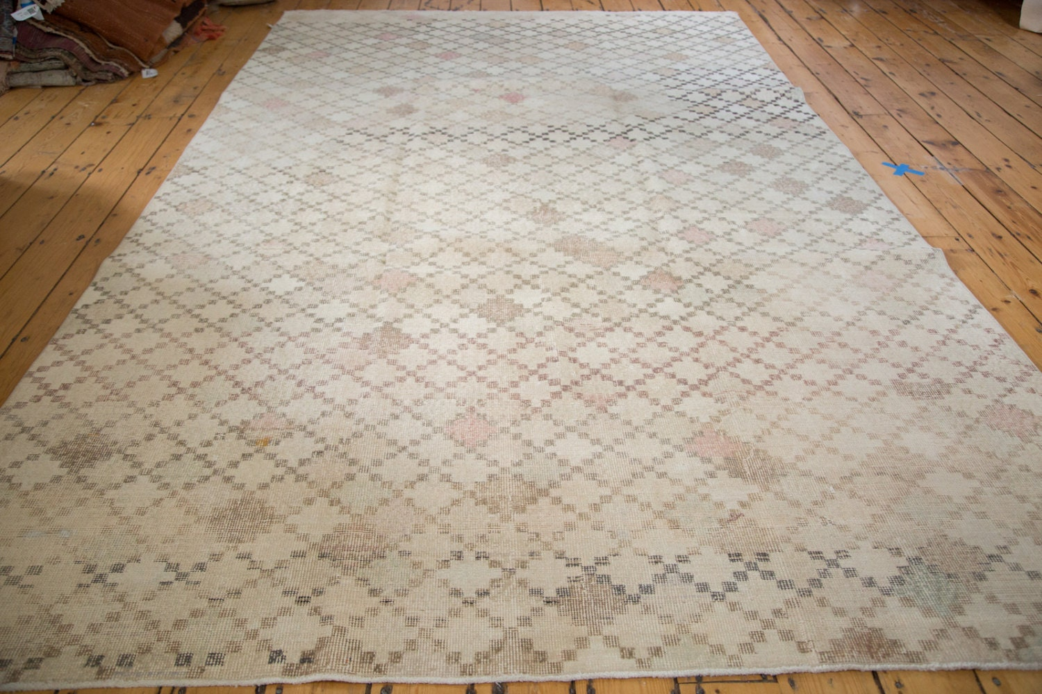 Discounted 6 5x11 Distressed Oushak Carpet