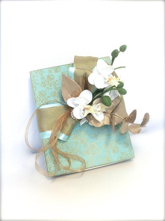 Geschenk Box Acqua Gold Box Wrap Hochzeitsgeschenke Boxen Etsy