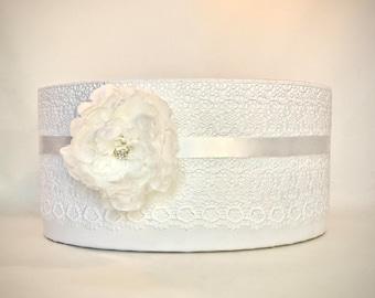 Program Box, Amenities Box, Elegant, Unique, Lace, Satin,  Peony, Gorgeous Box White Handmade, Custom Made, Elegantly.