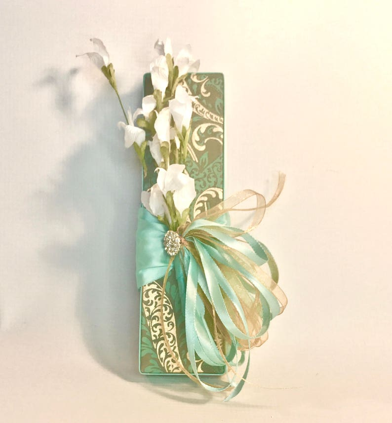 Handmade Father/'s Day Favors Decorative Boxes Groomsmen Wedding Gift Box Teal and gold Jewelry Box Birthday