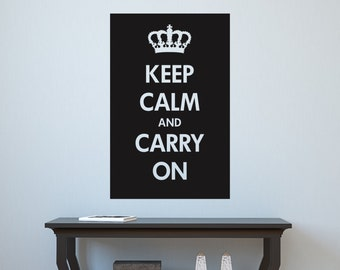 Keep Calm and Carry On Vinyl Wall Decal