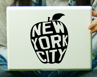 Big Apple New York Sticker Decal Laptop Decal iPad