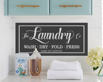 Laundry Room Vinyl Wall Decals