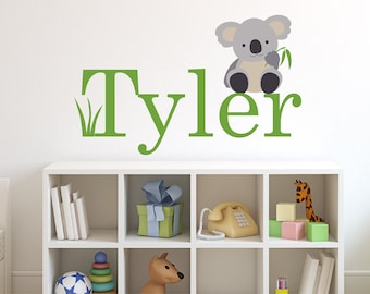 Children Wall Decal Koala with Name Vinyl decal