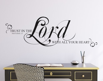 Trust in the Lord with All Your Heart Vinyl Lettering