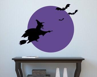 Spooky Moon Vinyl Wall Decal