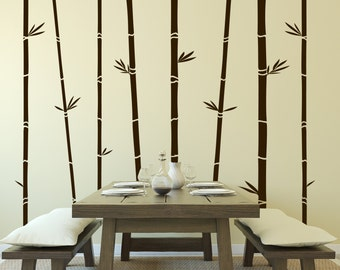Bamboo Trees Vinyl Wall Decal