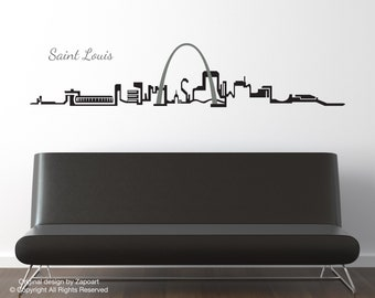 Saint Louis Missouri Skyline Wall Vinyl Decals