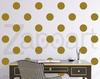 Set of 20 Polka Dot Shapes Wall Decal