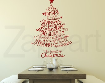 Christmas Tree Decal Holiday Wall Decals