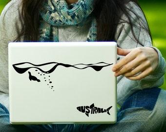 Australia Shark & Seal Sticker Decal Laptop Decal iPad