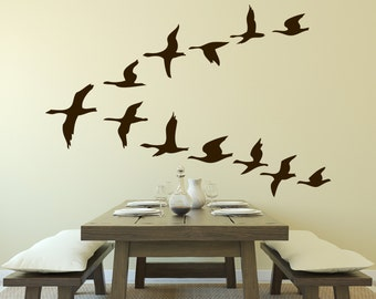 Flying Geese Set of 12 Wall Decal Decal Sticker