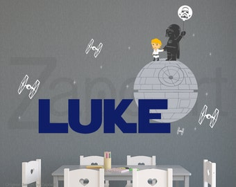 Star Wars Wall Decal Darth Vader and Son or/and Daughter