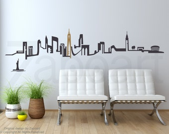 New York City Skyline Wall Decal