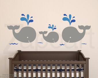 Baby Whales Family Wall Decal
