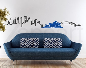 Sydney Skyline Vinyl Wall Decal