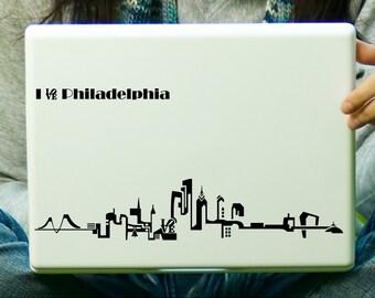 Philadelphia Skyline Sticker Decal Laptop Decal iPad