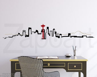 Seattle Skyline Wall Vinyl Decal