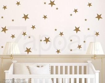 Confetti Stars, Baby Nursery Wall Decor, Star Decals