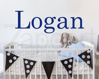 Custom Name Wall Decal, Typography Decal, Baby Nursery Decor, Kids Room Vinyl