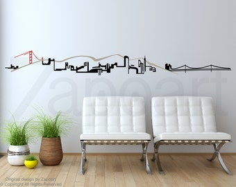 San Francisco Skyline Wall Decal