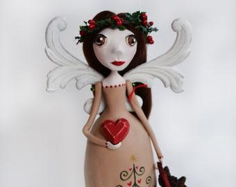Christmas Angel - Angel Art Doll - Christmas Decor