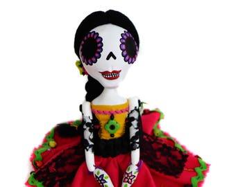Day of the Dead Doll - Dia de los muertos - Art Doll - Mexican Folkart