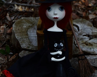 Witch Art Doll - Halloween Art Doll - Witch Doll - MADE TO ORDER