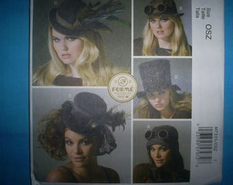 McCalls 7335 Xsm-Sm-Med-Lg Fashion Hats.