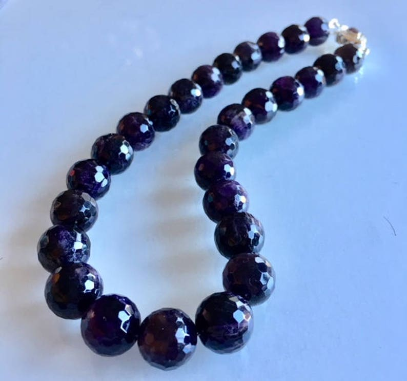 Gift Deep Purple Amethyst Necklace image 0