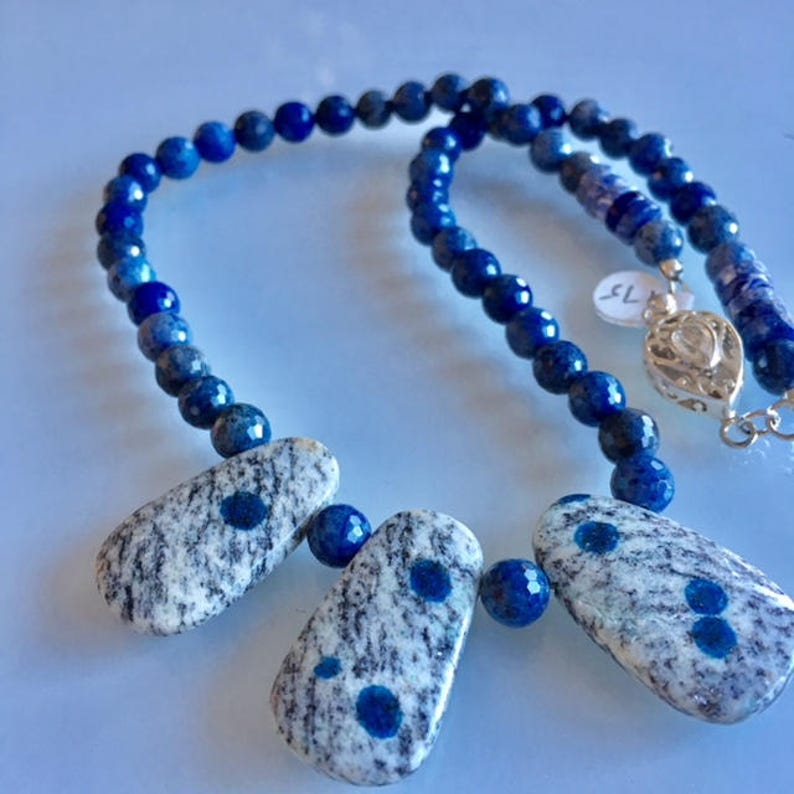 Gift K2 Drops on Necklace of Sunset Dumortierite image 0