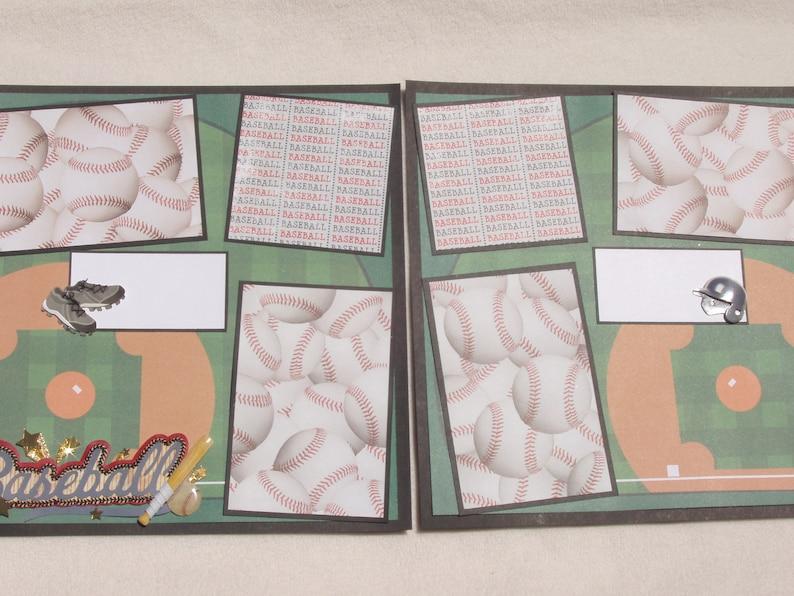 Baseball Bat Homerun Bases Strike Game Stadium Mitt Glove Pitcher Batter Jersey Sport Little League 12x12 Premade Scrapbook Pages by KARI