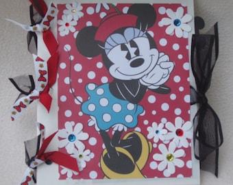 Disney World Disney Land Minnie Mouse Vacation Mickey Mouse Flowers  5x6 Mini Paperbag Scrapbook Photo Album