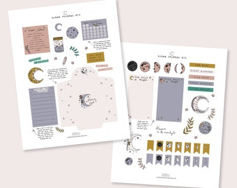 lunar journal kit | printable