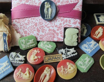 10-1940's Occupied Japan  MIXED-Assorted Resin Cabochons