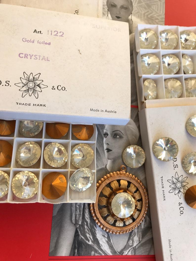 4 Vintage Swarovsk  18mm Crystals Rivoli Austria/'s Best!