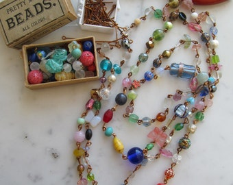 """End Of The Day Vintage Glass Bead Chain """"Kit"""""""