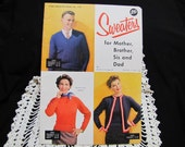 1950s Vinatge Knitting Book Star Sweater Book No. 110 Vintage Instruction Book Knitting Patterns Sweater Patterns