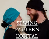 SEWING PATTERN Scrub Cap for Men and Women  PDF with Instructions, Scrub Cap for Nurses or Food Handlers or for Fun no elastic needed