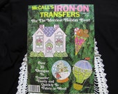 1970's Iron On Transfers McCall's Book 30 plus Transfers Holiday