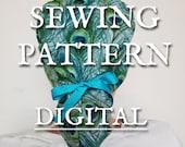 SEWING PATTERN Scrub Cap with Ponytail PDF with Instructions, with buttons, Scrub Cap with Ponytail, Surgical Cap with Ponytail